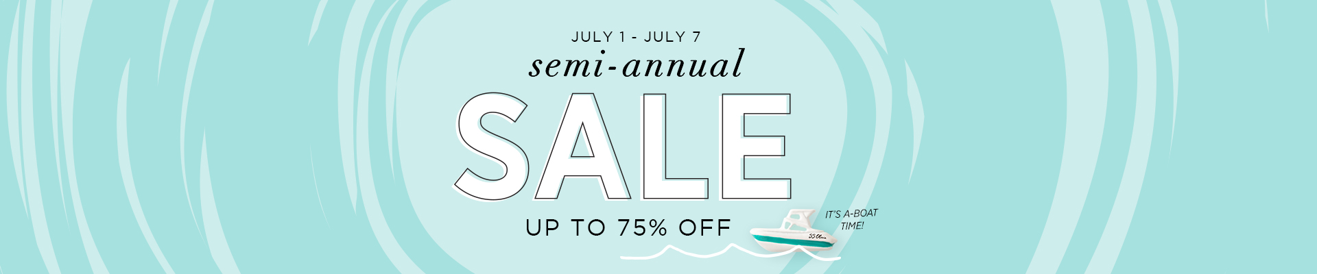 Semi Annual Sale banner