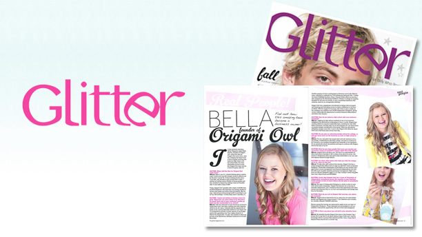 BELLA FEATURED IN GLITTER MAGAZINE