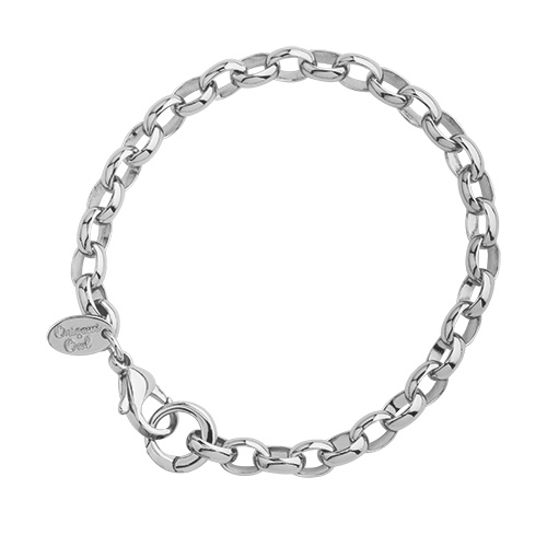 BR1004 8  SIlver Dangle Bracelet