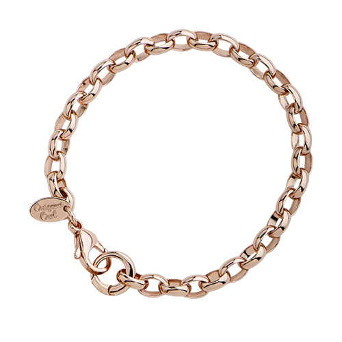 BR3004 8  Rose gold Dangle Bracelet Chain