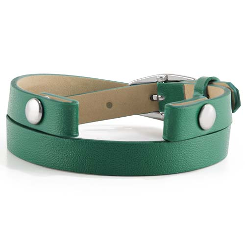 BR4066 Emerald Double Genuine Leather Wrap copy   Copy