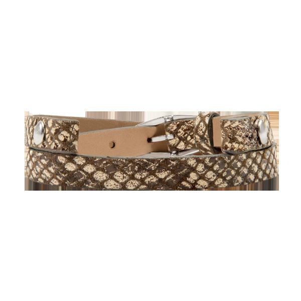 Snakeskin Print Double Geniune Leather Wrap Bracelet 7 1 2 8 1 2 SKU BR4091