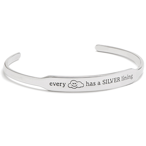 BR6002 Trolls Every Cloud has a Silver Lining Silver Happygram Bangle V1 (1) copy