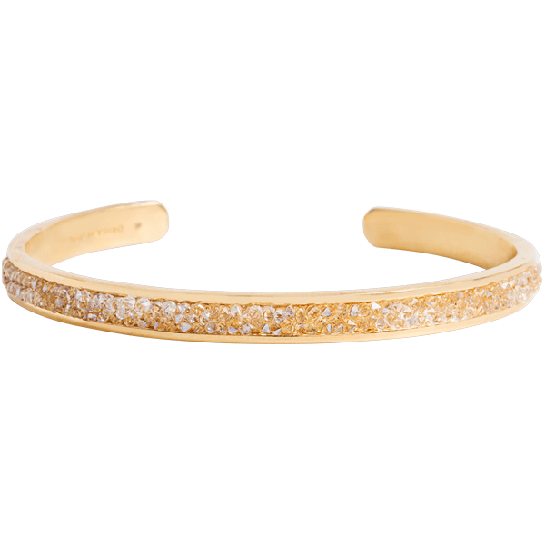 Gold Swarovski Bangle