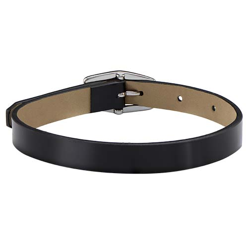 BR7002 Patent Black Slider Single Genuine Leather Wrap Bracelet V2 copy   Copy