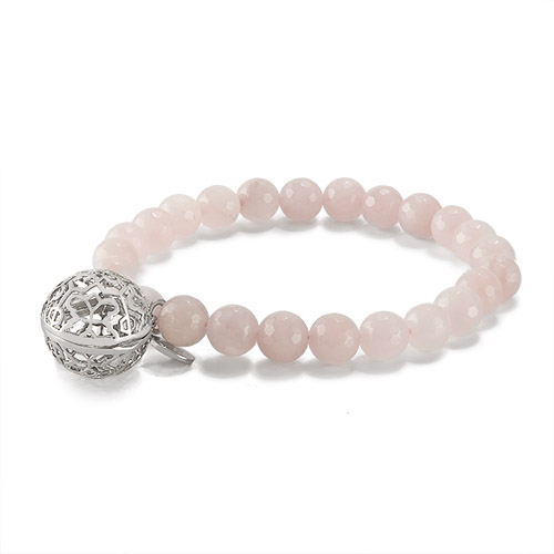 BR8003 Sweetness of Life Collection LH Rose Quartz Bead Bracelet V1
