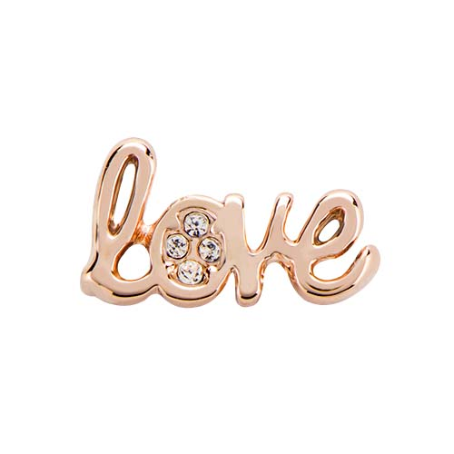 BS1014 Rose Gold Love Slider with Swarovski Crystal V1 X2 copy