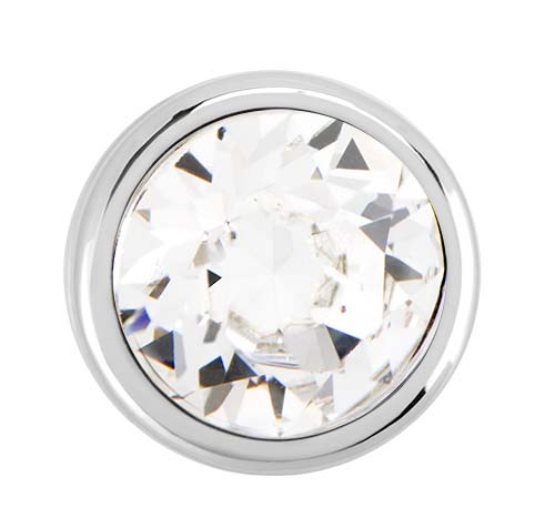 BS1017 Silver Bezel Accent Slider with Swarovski Crystal V2 copy