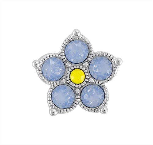 BS1018 Forget Me Not Flower Slider with Swarovski Crystals V3 copy