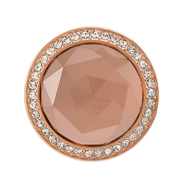 Medium Rose Gold Blush Prism Twist Living Locket Face with Swarovski Crystals SKU BZ3027