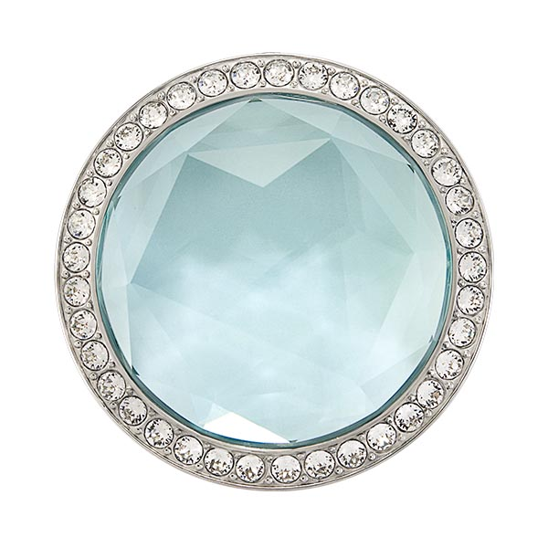 BZ4051 Large Silver Aqua Gem Twist Living Locket Face