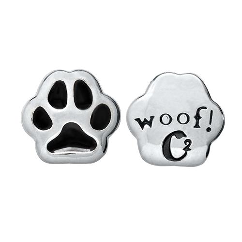 CH1023  Woof  Dog Paw Charm
