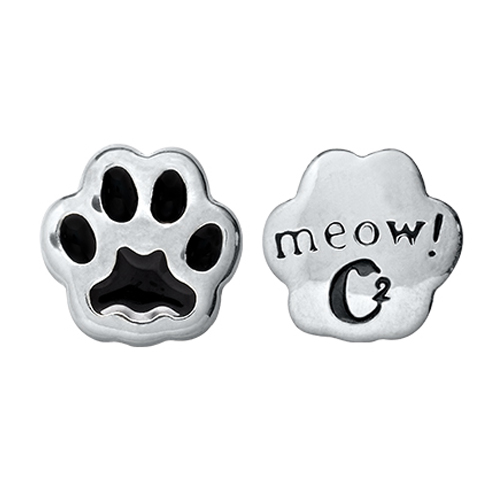 CH1024  Meow  Cat Paw Charm