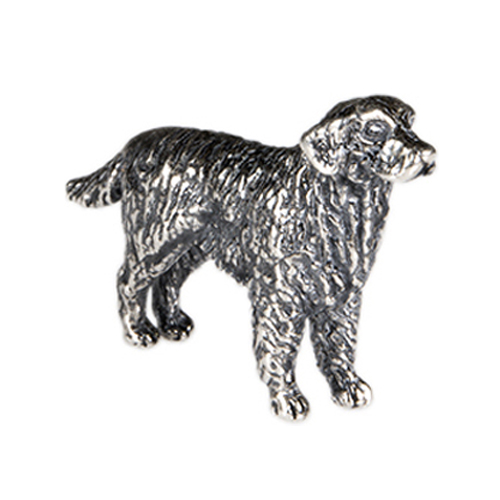 CH1048 Sterling Silver Golden Retriever Charm