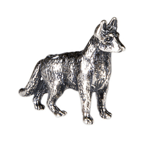 CH1049 Sterling Silver German Shepherd Charm  ver3
