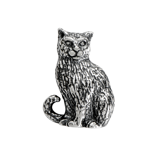 CH1063 Sterling Silver Cat Charm FLAT