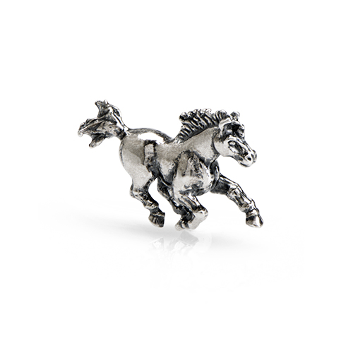 CH1064 Sterling Silver Horse Charm ANGLE