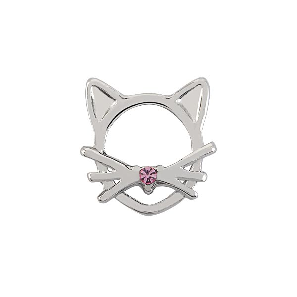 CH1071 Silver Cat Charm