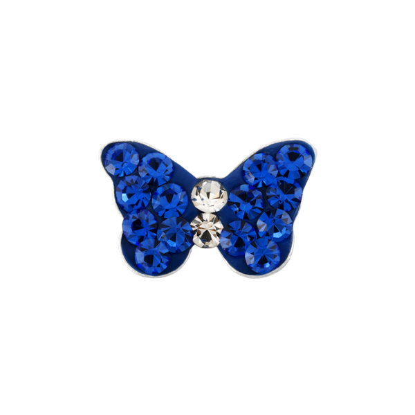 CH1089 Blue Butterfly Sparkle Charm WEB