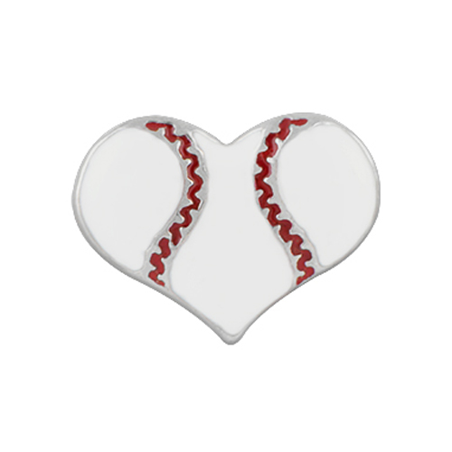 CH1345 Sports Heart Baseball Charm