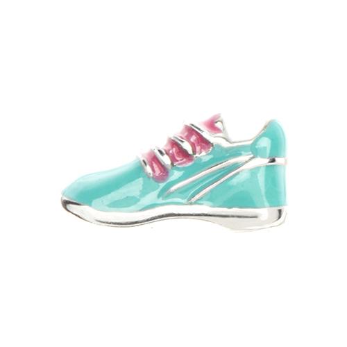 CH1361 Aqua Running Shoe Charm
