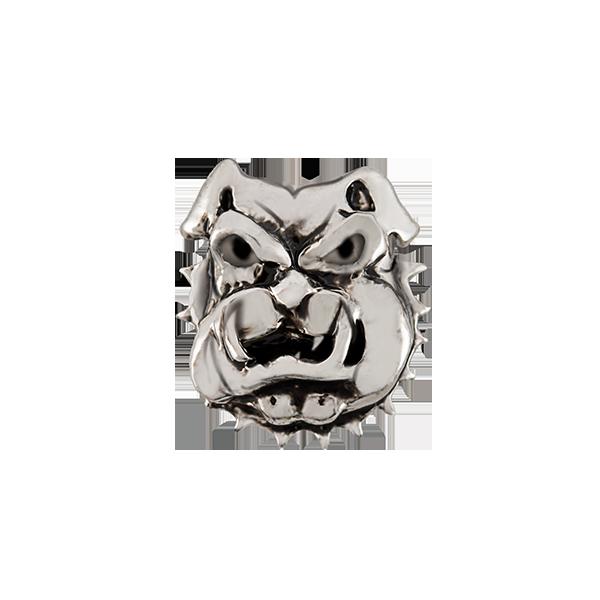 Silver Bulldog Mascot Charm SKU CH1368