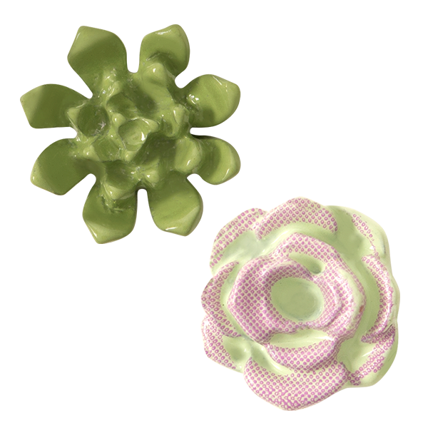 Succulent Charms Set of 2 SKU CH1495