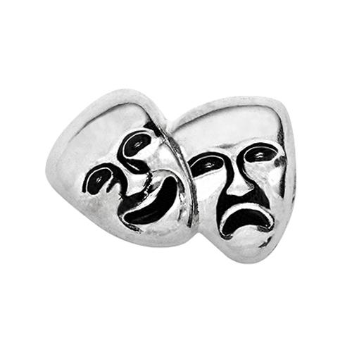 CH1626 Silver Drama Masks Charm