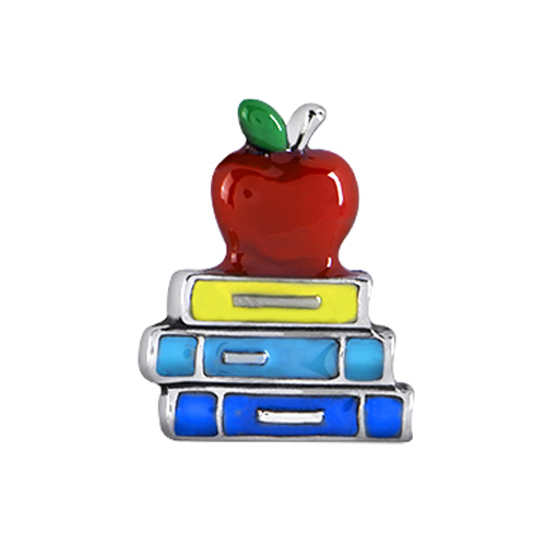 CH1661 Apple and Books Charm
