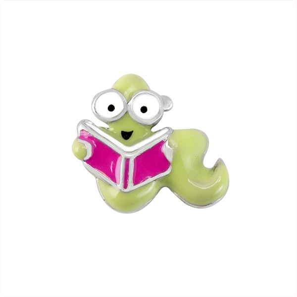 CH1698 Book Worm Charm