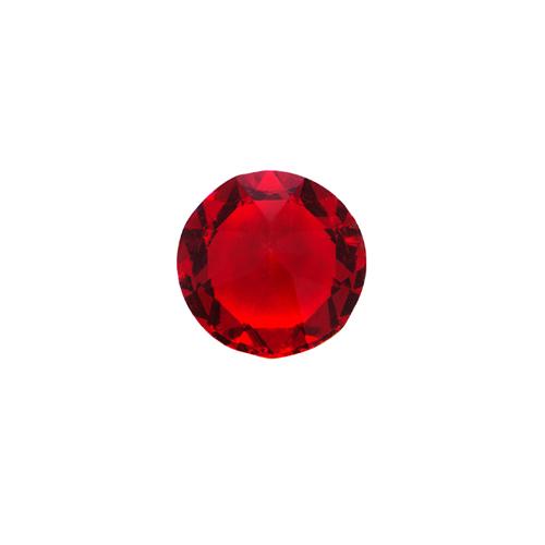 CH1839 Light Siam Round Swarovski Crystal Charm
