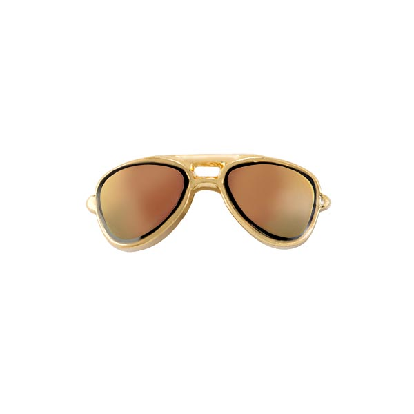 CH2611 Gold Aviator Sunglasses Charm