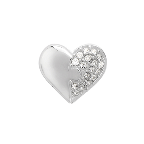 CH2903 Legacy Piece of my Heart with Swarovski Crystals Charm   2