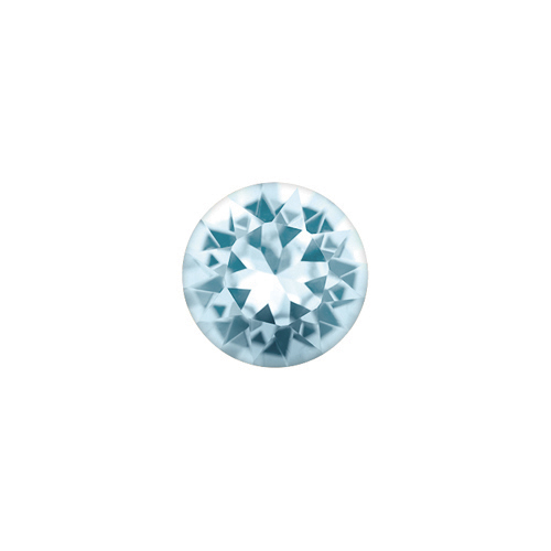 CH3075 March Round Birthstone  Charm V3
