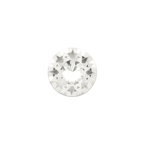 CH3076 April Round Birthstone  Charm V3