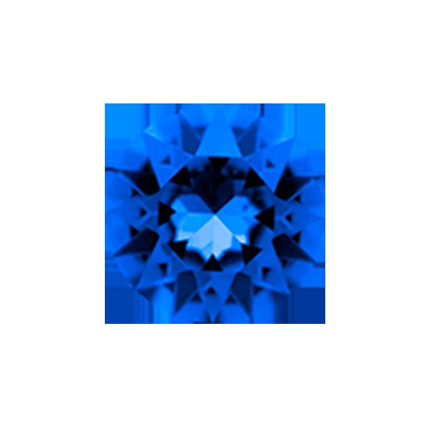 September Sapphire Round Swarovski Birthstone Crystal SKU CH3081