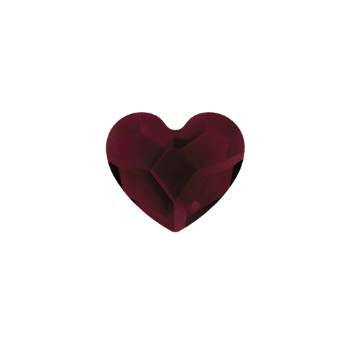 January Garnet Heart Swarovski Birthstone Crystal SKU CH3085