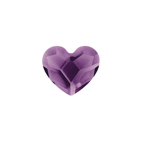 February Amethyst Heart Swarovski Birthstone Crystal SKU CH3086