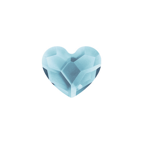 March Aquamarine Heart Swarovski Birthstone Crystal SKU CH3087