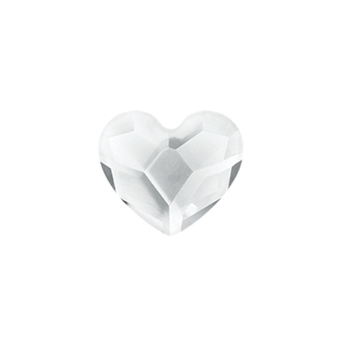 CH3088 April Clear Swarovski Birthstone Heart1