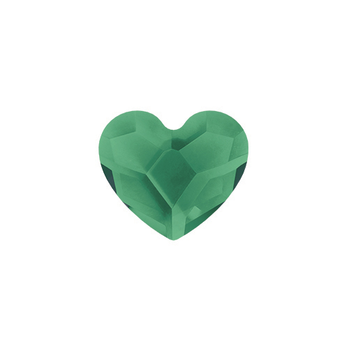 CH3089 May Emerald Swarovski BIrthstone Heart1