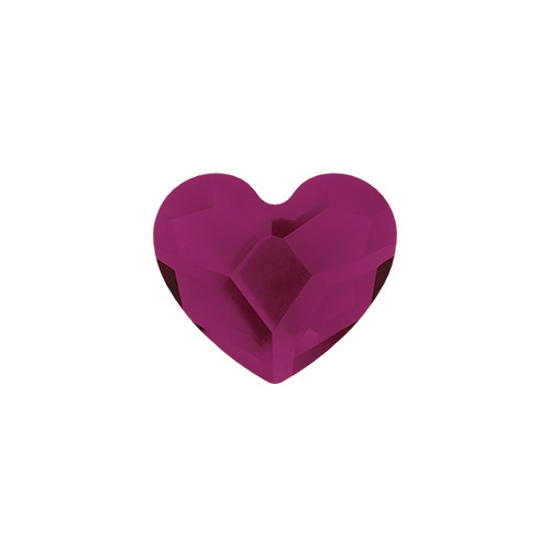 CH3091 July Ruby Swarovski Birthstone Heart1