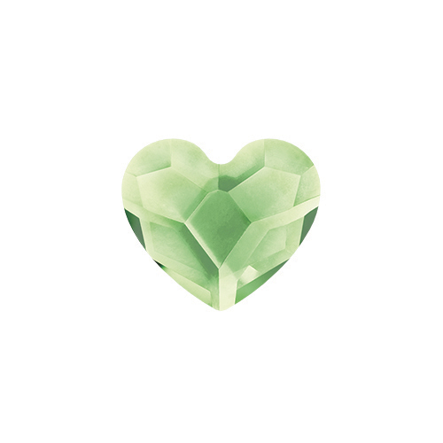 August Peridot Heart Swarovski Birthstone Crystal SKU CH3092