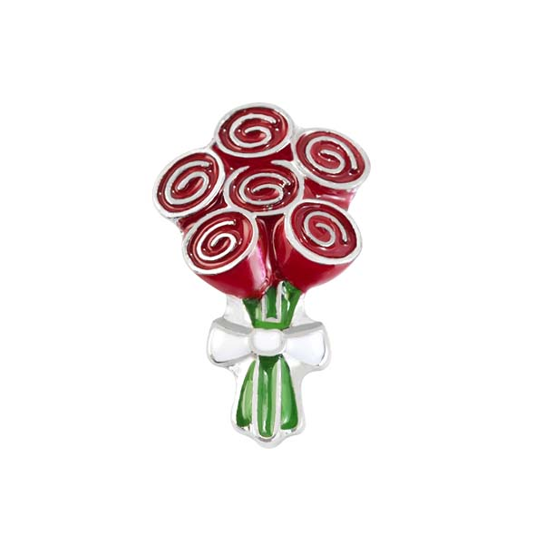 CH3205 Bouquet Of Roses Charm copy