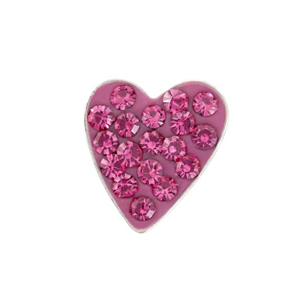 CH3209 Pink Heart Sparkle Charm copy