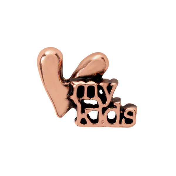 Rose Gold Love My Kids Charm SKU CH3218