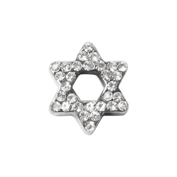 Silver Pav Star of David Charm SKU CH3364