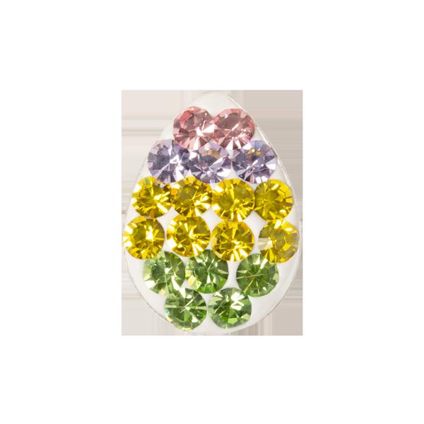 Striped Egg Sparkle Charm SKU CH3381