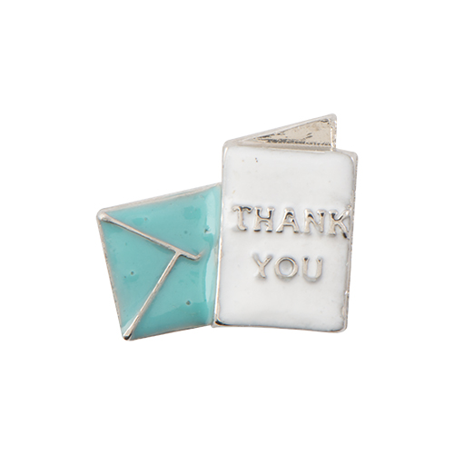 CH4036 Thank you Note Charm