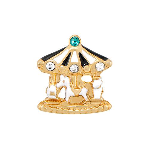 CH4045 Gold Merry Go Round Charm